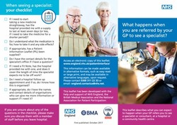 Patient Leaflet: What happens when you are referred by your GP to see a specialist?
