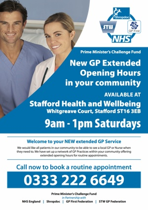New GP Extended Opening Hours in your community